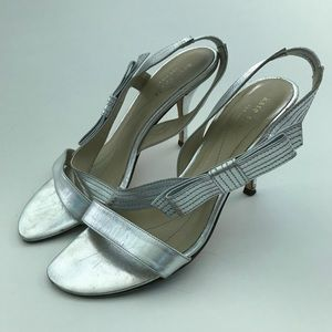 Kate Spade Heeled Sandals with Bow Strap Size 7.5